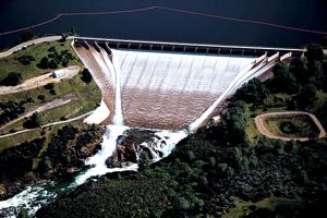 East Bay Municipal Utility District releases water from Camanche Reservoir