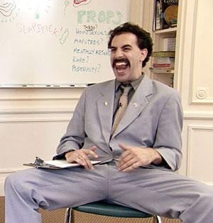 Public reaction to 'Borat!' raise controversial questions