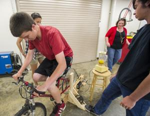 Galt High School's Engineering Club builds bicycle blender