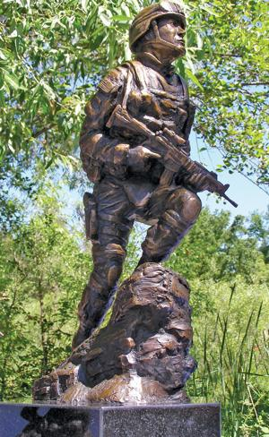 Construction of soldier statue  at Micke Grove Park approved
