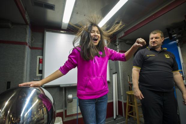 A hair-raising science lesson
