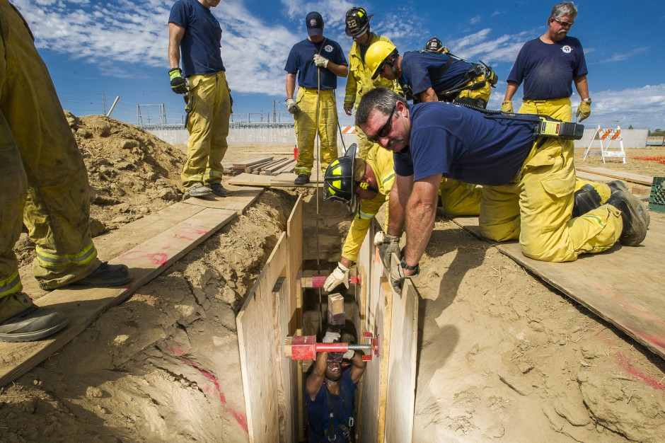 Lodi firefighters dig into training exercise