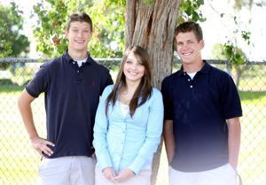 Tyler Nuss, Alis Sokolova and Andrew Cotton are valedictorians for Jim Elliot