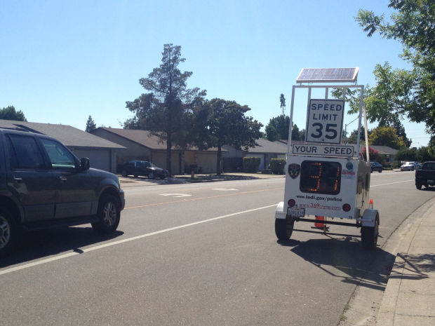Radar trailers monitor speeds on Lodi streets