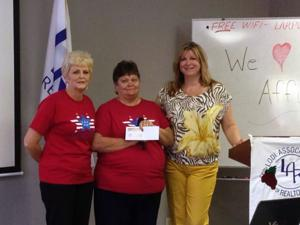 Lodi Association of Realtors Presents a check for $1,000 to Support Our Troops