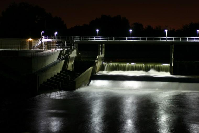 Woodbridge Irrigation District Dam @ Night