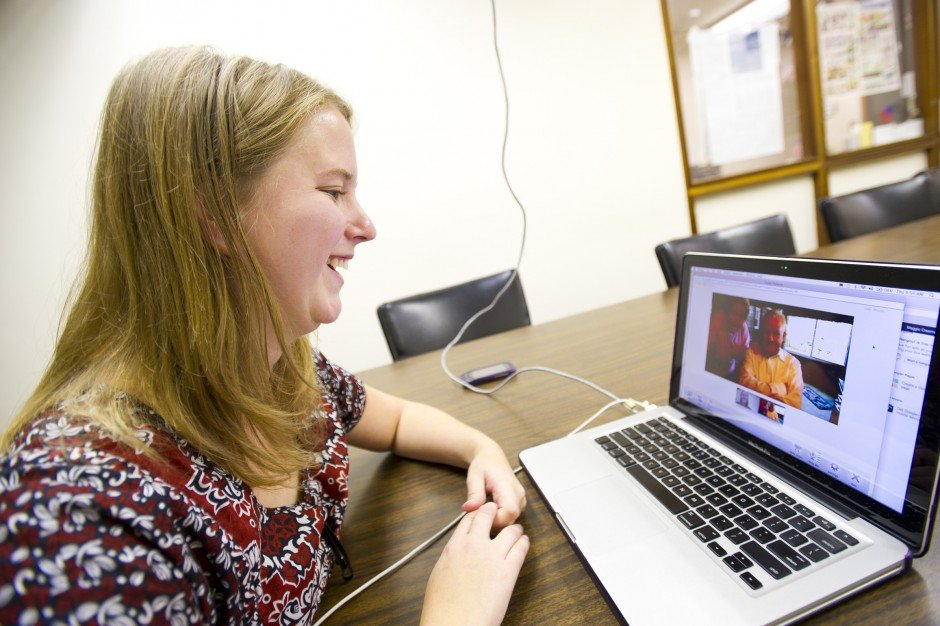 Lodians use video chat services to connect with family