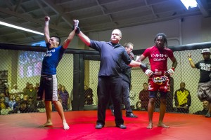 Mixed martial arts fighters tear up the cage in Lodi