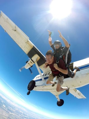 Lodi Rotary Club president Dan Ingrum gets extreme send off