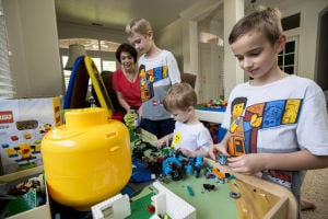 Lodi mom Christy Richesin helps sons collect Legos for children in need
