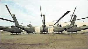 Huey helicopters play important role in soldier transport