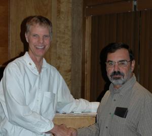 Lodi Parks & Rec's Steve Dutra speaks at Lodi Sunrise Rotary