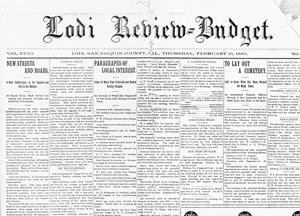 Review-Budget reported on Lodi in city's early days
