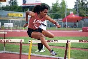 Lodi's Kayla Carter hurdles into state championships
