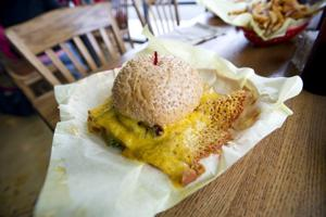 Have some burger with your cheese skirt at Galt's Squeeze Inn