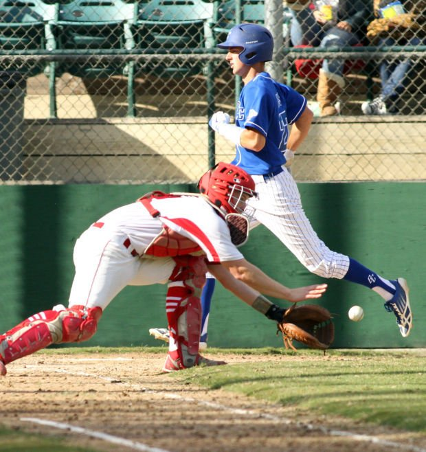 Baseball: Bruins come out swinging, double up Flames