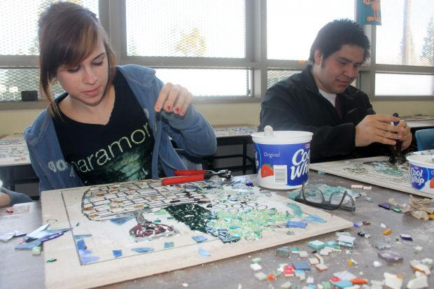 Liberty High School students' mosaics to be trophies for winning wineries