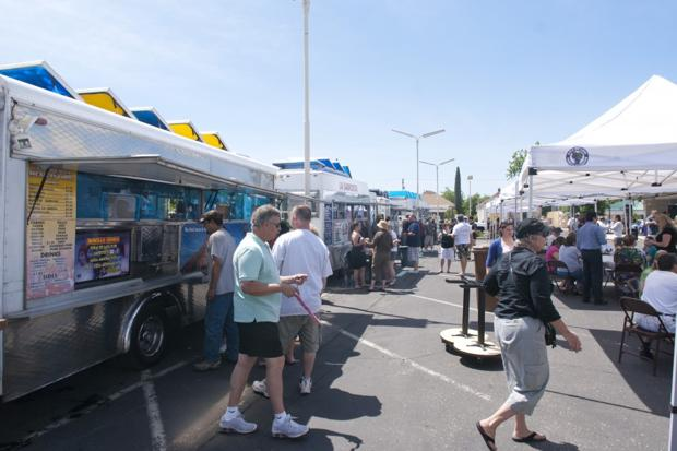 Chowing down at the first-ever Lodi Taco Truck Cook-Off