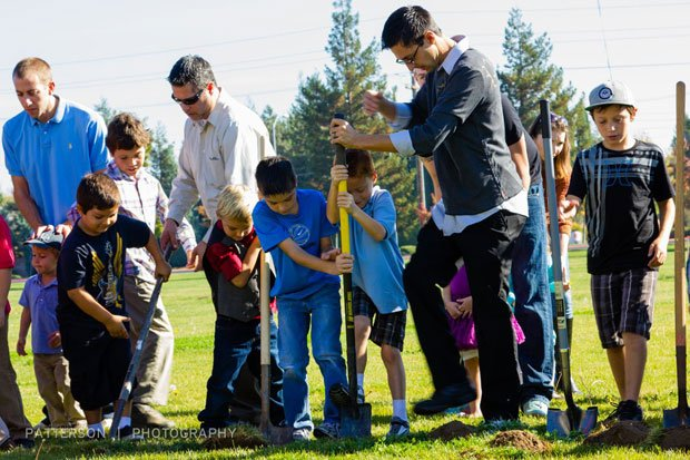 Ground broken for childrens center at Temple Baptist Church
