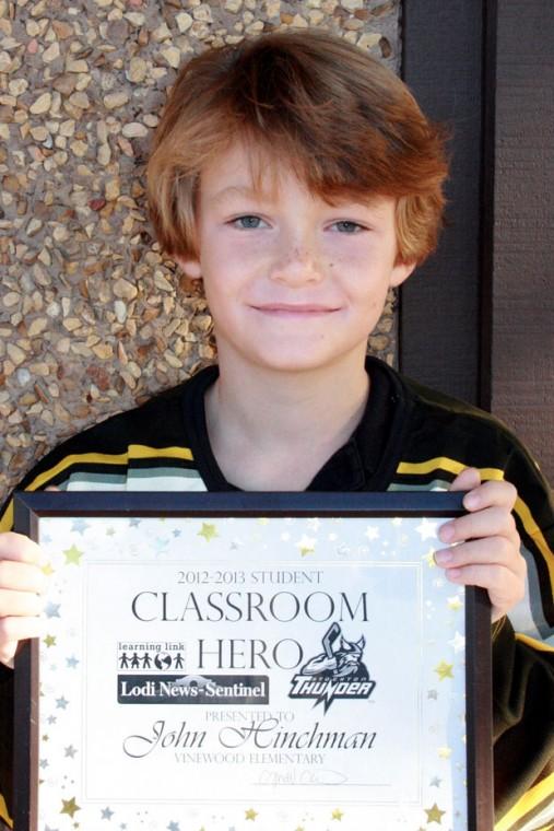 Vinewood Elementary School classroom heroes