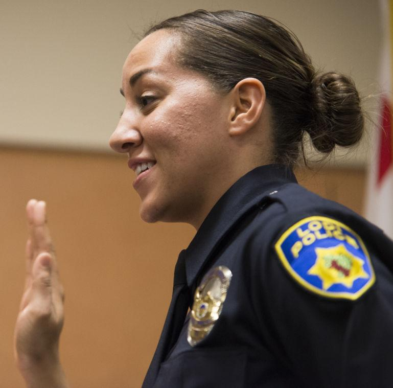 Lodi Police Department promotes officer, welcomes newcomers