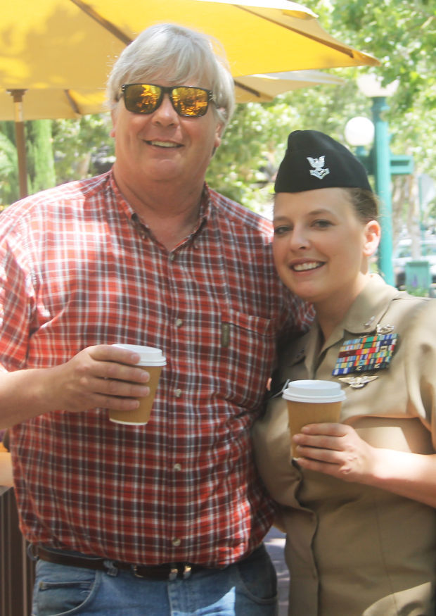 Lodi Navy Petty Officer Breanna Brown surprises dad with visit