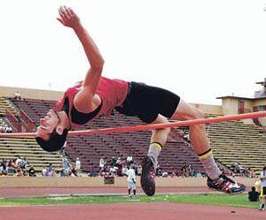 Nikzat overcomes challenges, defends high jump title