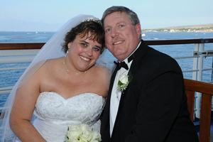 Mark Evans, Susan Gruebele were married last December on the Golden Princess