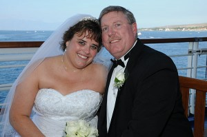 Mark Evans, Susan Gruebele were married last December on the Golden Princess