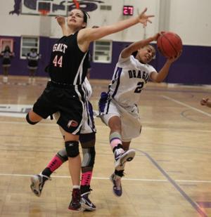 Short-handed Galt Warriors no match for Sacramento Dragons in girls basketball