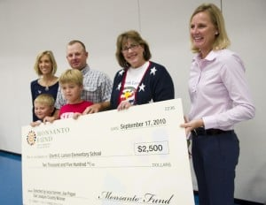 Local farmer donates $2,500 to Larson Elementary
