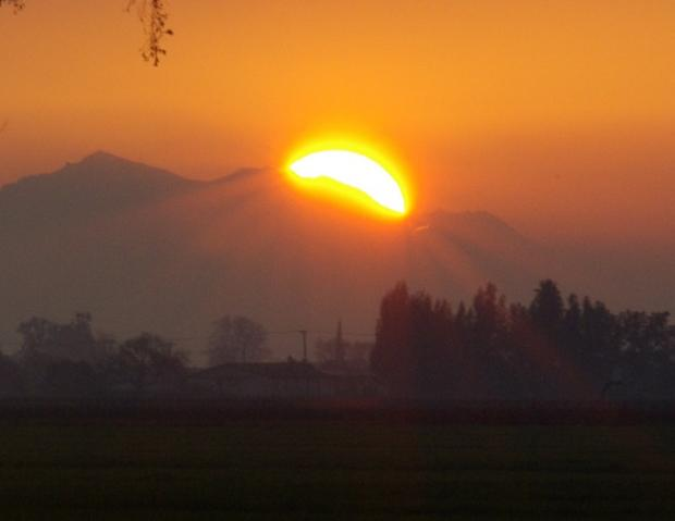 Mount Diablo  at sunset 1/30