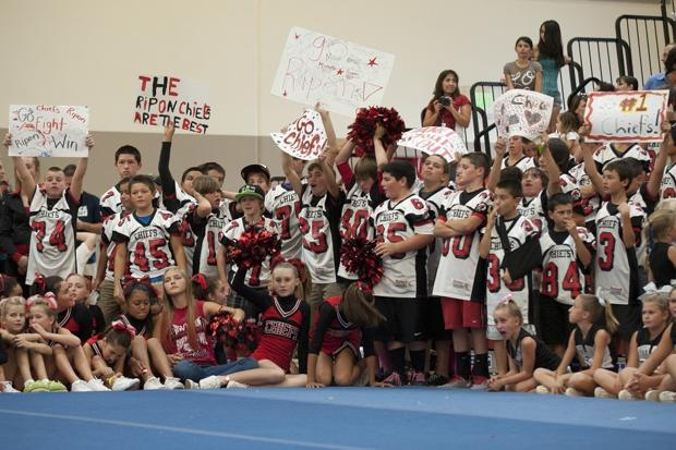 Local cheerleaders meet up for league championship