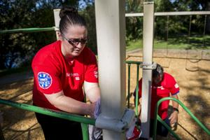 Lowe's Heroes help fix up Lodi Lake
