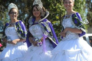 A glittering Lady of Fatima parade marches through Thornton