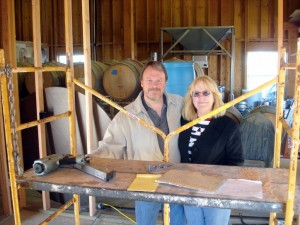 The tasting room takes shape at Kidder Family Winery