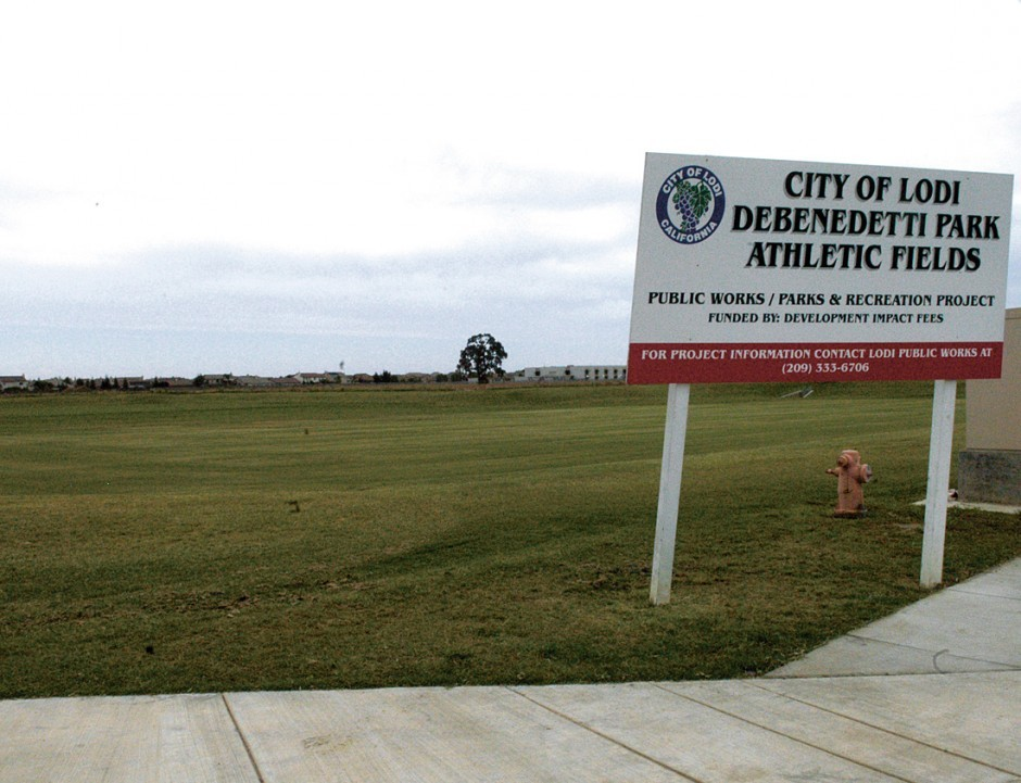 Lodians asked to stay off grass at DeBenedetti Park