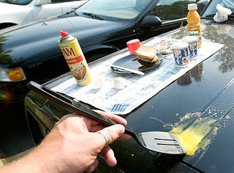 It was hot enough in Lodi to fry an egg — on the hood of my jeep