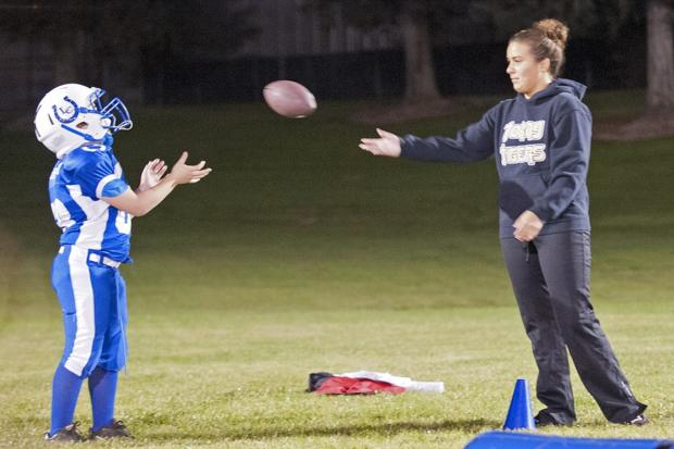 Tokay High School senior Tara Soto shares football passion with young Colts