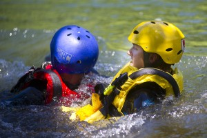 Area fire districts meet at Mokelumne River to practice water rescues