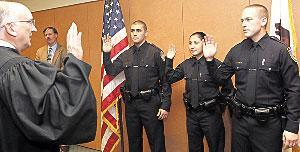 Three new police officers sworn in to Lodi's ranks