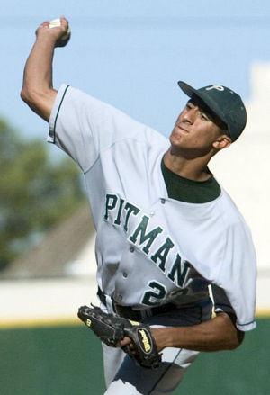 Colin Kaepernick Flashed Arm Against Lodi Bats: Kaepernick pitched against the Lodi and Tokay baseball teams in 2005-06 as a member of the Pitman High School team. He made an appearance at Zupo Field, above, when Pitman played Elk Grove in the 2006 section championship series.  - Marty Bicek/Modesto Bee file photograph
