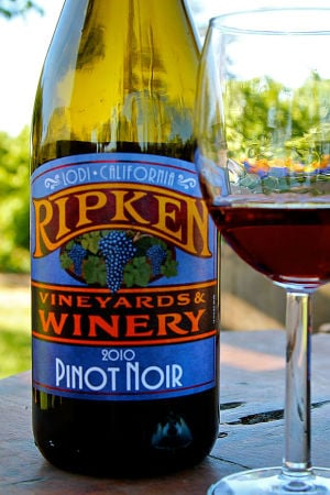 Ripken Vineyards' Pinot Noir is bright, floral and tinged with some earthy aromas
