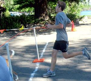 Lodi freshman Connor Phillips is top dog in running event