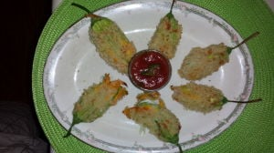 A unique summer treat: Stuffed squash blossoms