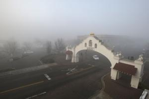 Fog rolls into Downtown Lodi
