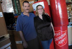 Kevin and Kendra Goodwin grateful for help from the Salvation Army