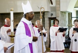 New bishop visits St. John's Episcopal Church