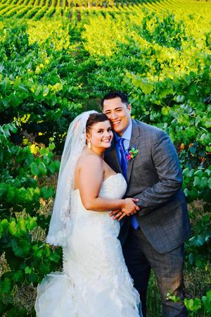 Adam Tibon and Danielle Mondo were married in May at Chatfield Vineyards