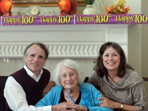 Lodis Ruth Stowell celebrates her 100th birthday